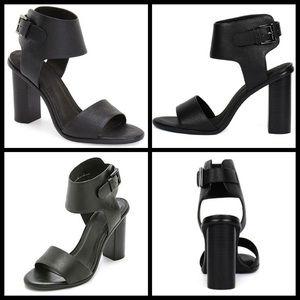 Joie Opal Black Leather Heels Size…